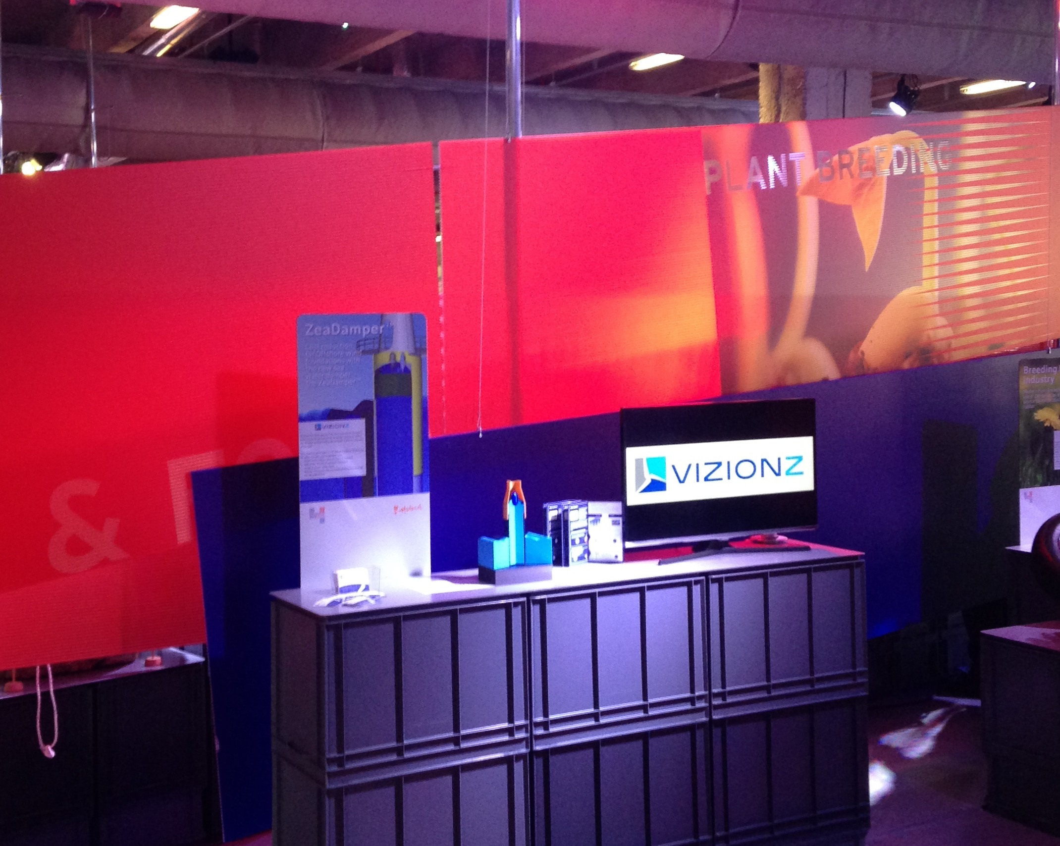 VizionZ Engineering Trade Mission France Expo Stand